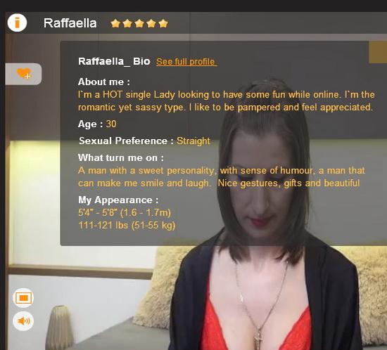 Raffaella_ sex chat : Raffaella_ Webcam Model